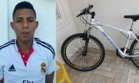 Jhonatan Pérez se robó la bicicleta en el barrio Mamatoco.