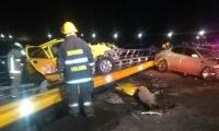 Personal del cuerpo de Bomberos de Santa Marta hizo presencia en el lugar del accidente.