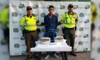 Rubén Rodríguez, capturado por transportar marihuana.