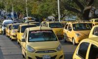 Los taxista acompañaron el sepelio.