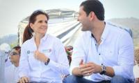 La gobernadora, Rosa Cotes y el exgoberandor, Luis Miguel Cotes.
