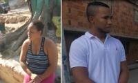Yudis Beatriz Jaraba Cantillo, en la ciudad de Santa Marta y Miguel Ángel Freyte Fernández, capturado en la ciudad de Bogotá.