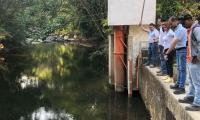 Visita de supervisión a los niveles del río Manzanares.