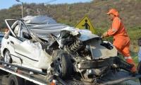 Totalmente destruido quedó el vehículo involucrado en un fatal accidente este miércoles, en Santa Marta.