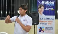 Rubén Jiménez aspira a ser elegido como representante a la Cámara este 11 de marzo.