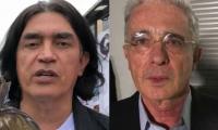 Gustavo Bolívar y Álvaro Uribe.