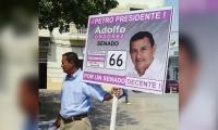 Adolfo Sánchez, mototaxista sincelejano.
