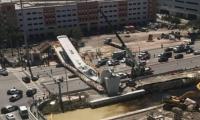 Así quedó el puente después del derrumbe.