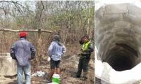 A este pozo ingresaron los dos campesinos que fallecieron por inhalación de gases tóxicos.