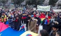Venezolanos se manifestaron en España contra la dictadura de Nicolás Maduro.