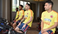 Hicieron trabajos de movilidad y recuperación en el primer entrenamiento.