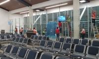 Sala de espera para el abordaje, en el nuevo aeropuerto.