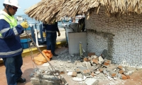 Operativos de recuperación de espacio público en Taganga.