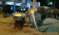 Accidente presentado en la Avenida del Libertador.