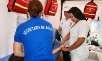 Atención médica a turistas y samarios.