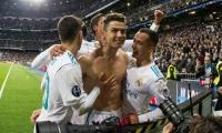 Cristiano Ronaldo celebra el penal de la clasificación.