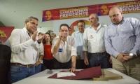 """Germán Vargas Lleras dijo que este acuerdo es """"sin mermelada""""."""