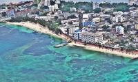 Panorámica de la isla de San Andrés, en la región Caribe.