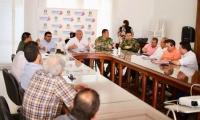 En un consejo de seguridad desarrollado en la Gobernación, se tomaron medidas para evitar el cierre de vías en Zona Bananera.
