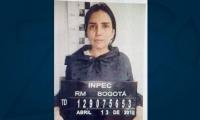 Aida Merlano, presa en la cárcel el Buen Pastor, de Bogotá.