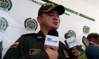 coronel Faber Dávila durante rueda de prensa.