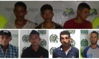Los capturados fueron identificados por las autoridades.
