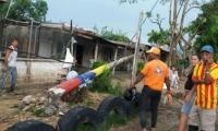 más de 120 familias se quedaron sin energía en Tucurinca, Zona Bananera.