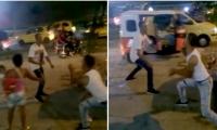 Momentos de la pelea.