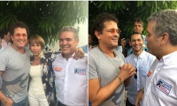 Carlos Vives junto al candidato presidencial Iván Duque.