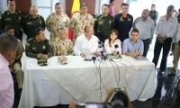 El Ministro de Defensa se reunió con autoridades departamentales y distritales.