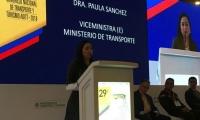 Viceministra de Transporte en la edición 29 del Congreso Nacional de Transporte y Turismo.