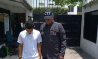 Jaider Yesid Jiménez Caballero, capturado.