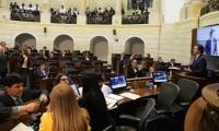El senador Juan Manuel Galán durante la ponencia de la iniciativa.