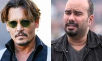 Johnny Depp y el director Ciro Guerra.