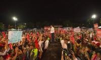 El candidato presidencial congregó una de las mayores manifestaciones políticas de su campaña.