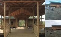 La cabaña hacía parte de las construcciones diseñadas para tener mejores condiciones de seguridad y comodidad.