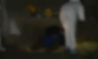 Oswaldo Cardona quedó tendido en el lugar donde fue atacado por los sicarios.