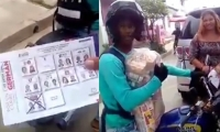 Captura de Video de presunta compra de votos en Galapa.