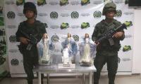 Las cuatro imágenes de la Virgen con las que se camuflaba la droga.