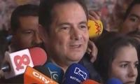 Germán Vargas durante la rueda de prensa.