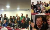 Imágenes del evento de adhesión a Gustavo Petro.