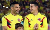 James Rodríguez y Falcao.