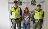 El capturado fue conducido a la URI de la Fiscalía.