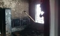 Casa quemada en Soledad, Atlántico.