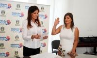 La abogada Elsa Mireya Reyes Castellanos durante su posesión como magistrada del Tribunal Administrativo del Magdalena.