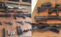 Estas fueron las armas halladas en una finca de Puerto Colombia.