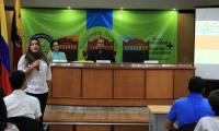 Con masiva asistencia, Unimagdalena llevó a cabo en el auditorio Julio Otero Muñoz el 'II Seminario de Investigación del Programa de Negocios Internacionales'.