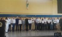 Autoridades durante la apertura de las elecciones.