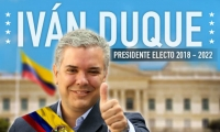 Iván Duque presidente electo de Colombia.