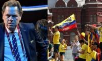 Ramón Jessurum presidente de la Fedefútbol-Hinchas de Colombia en Rusia.